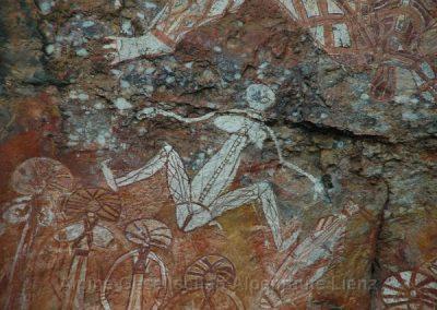 18 Aborigines Felsmalerei