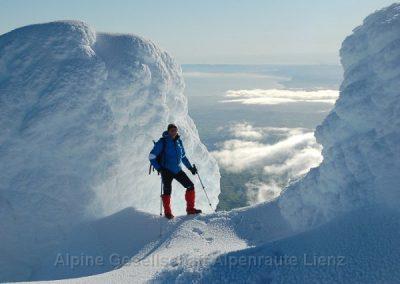 64 Taranaki Ausstieg Gipfelflanke
