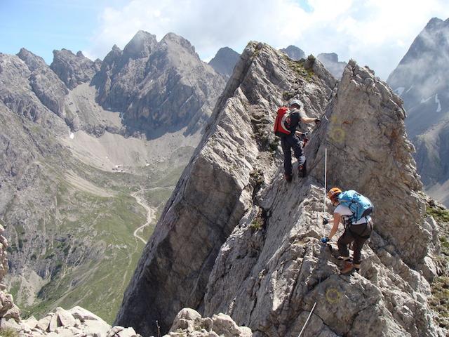 Klettersteig Verborgene Welt : Topos alpine gesellschaft alpenraute lienz