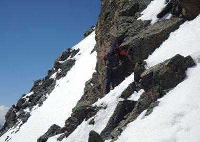 super Kletterei am Grat